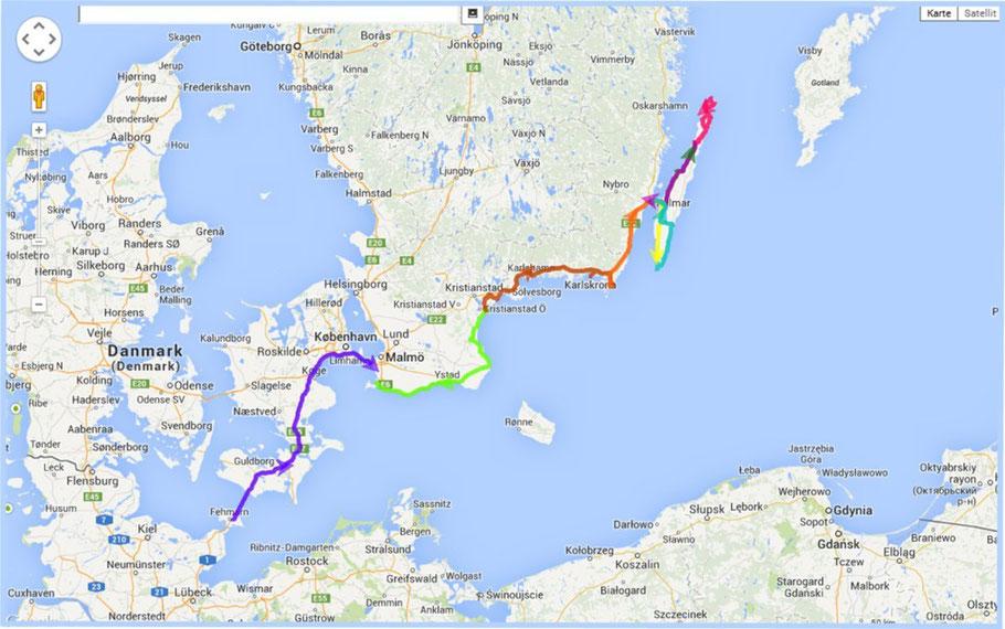 ...bisherige Strecke: 1100 km