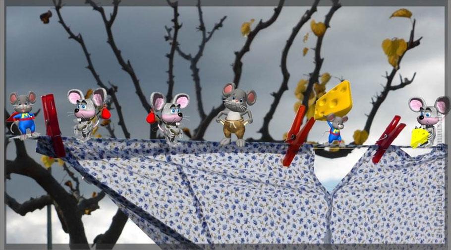 Wer sieht hier Mäuse?