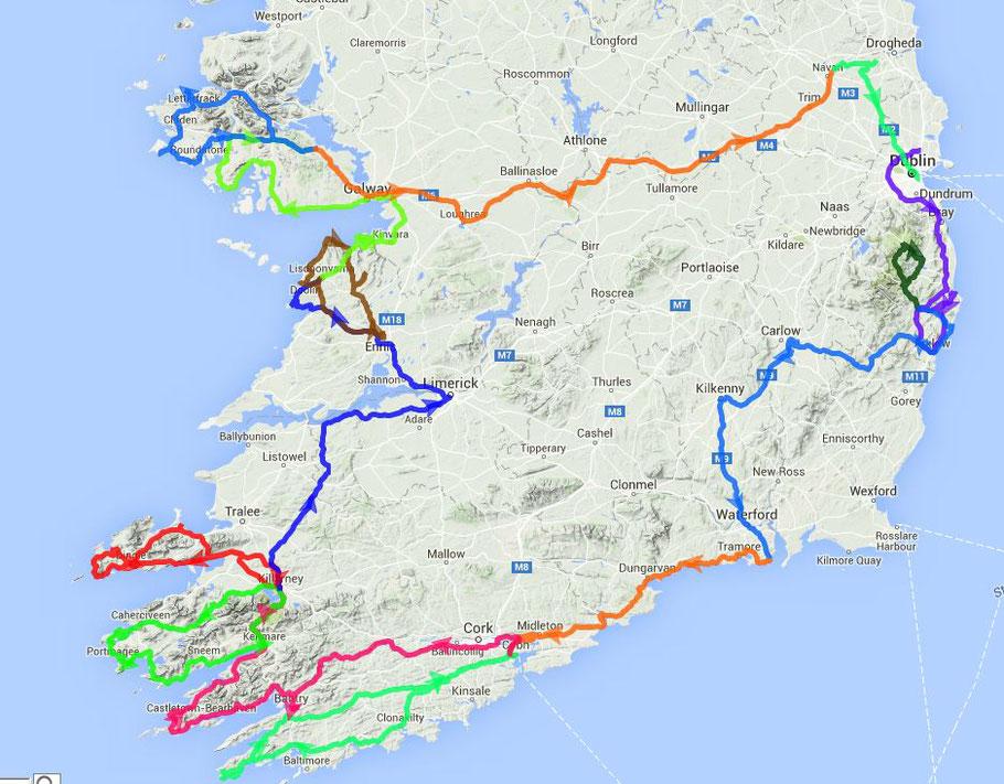 Rundreise Irland 2016 > 2500 km