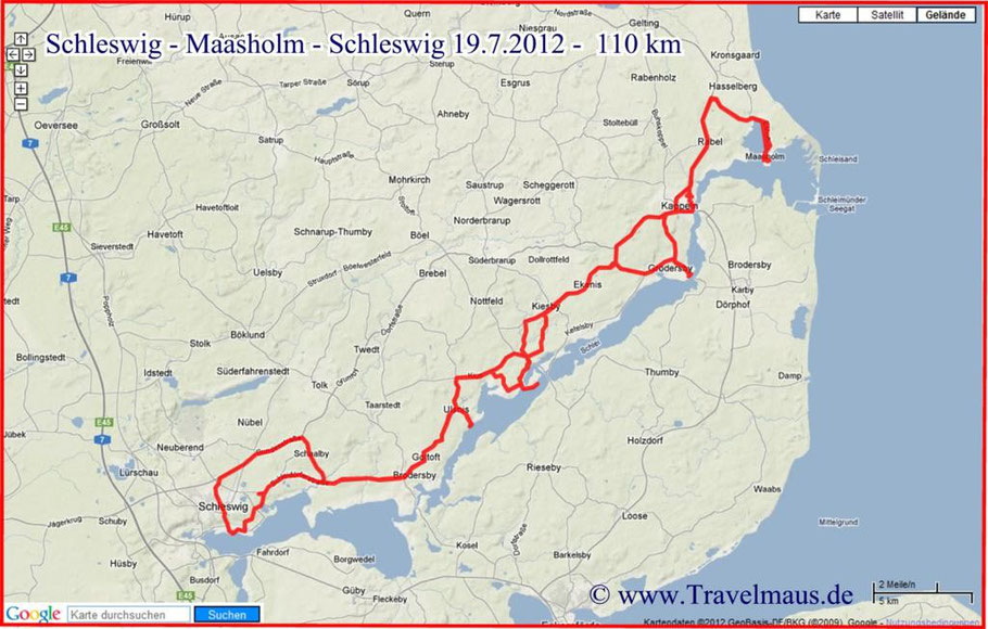 Schleswig-Maasholm - Schleswig 110 km