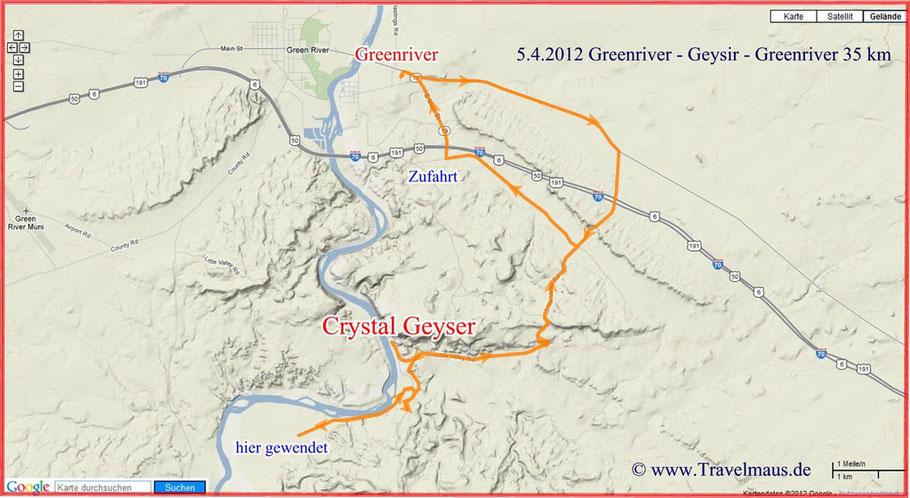 Crystel Geyser in Greenriver/Utah
