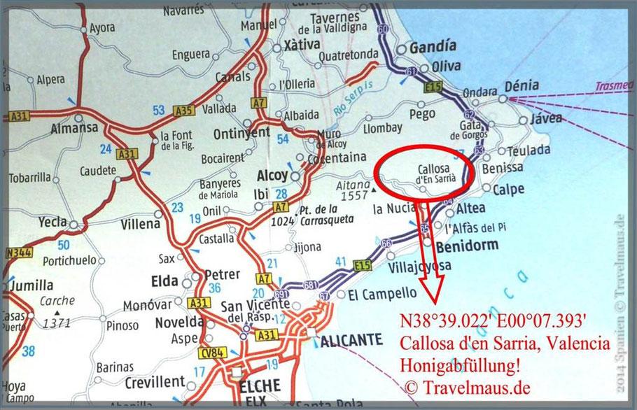 N38°39.022' E00°07.393' Callosa d'en Sarria, Valencia
