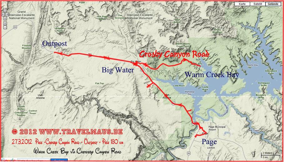 Tagesstrecke 180 km