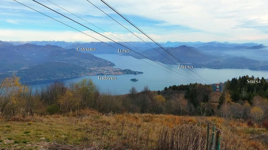 Blick vom Monte Mottarone - 1491 M
