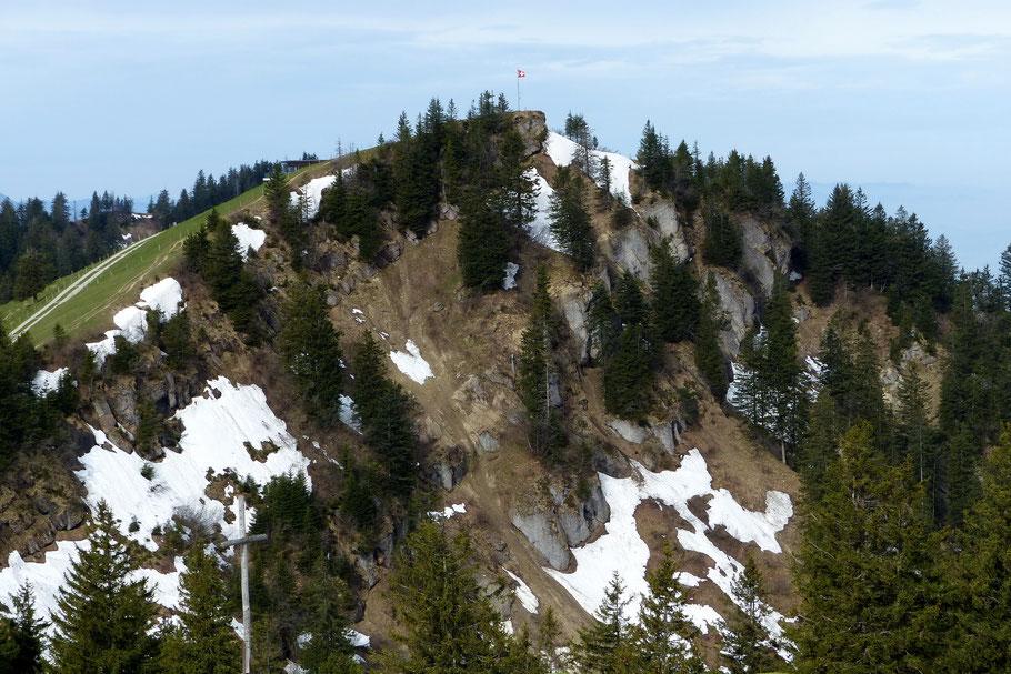 Wildspitz, 1580 M - Vom nach Westen ziehenden Kammgrat aus gesehen