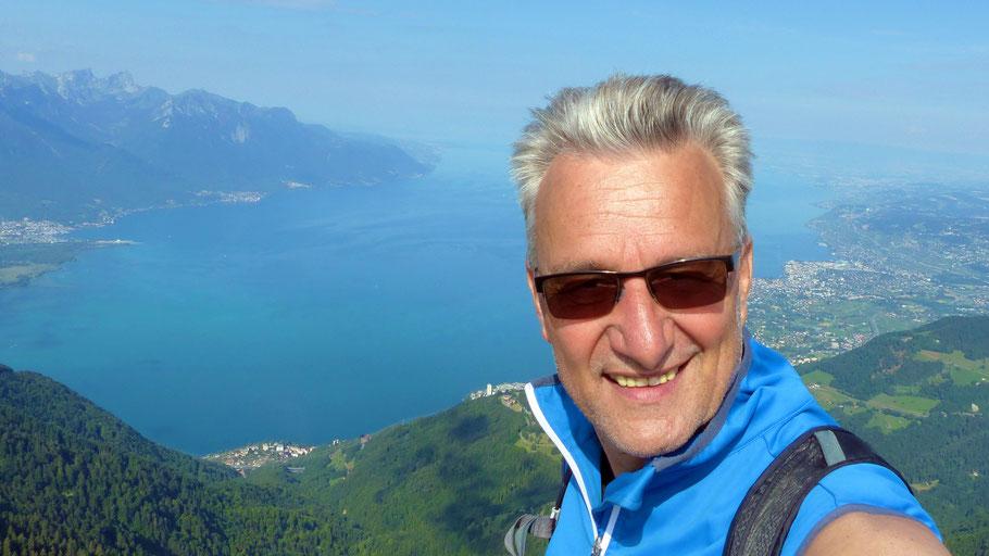 Gipfelblick zum Genfersee