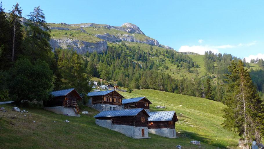 Petit Mont Bonvin, 2412 M - Blick von der Cave du Colombire