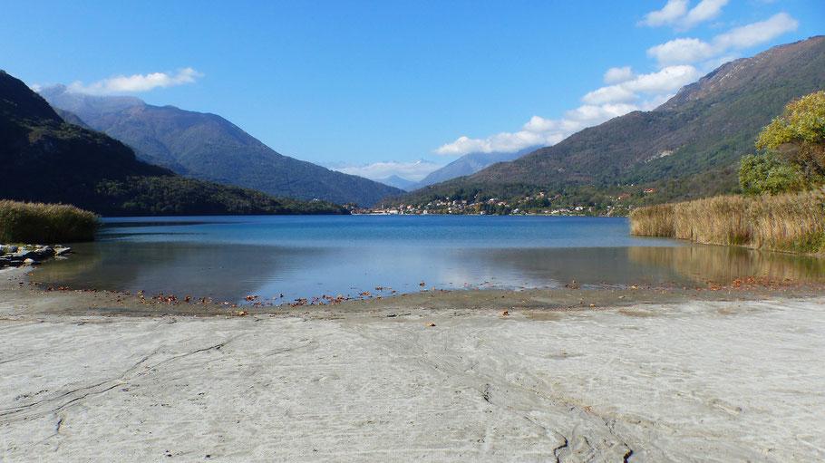 Blick vom Ostufer auf den Lago di Mergozzo - 197 M