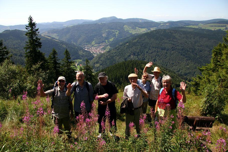 Blick vom Silberberg nach Todnau im Wiesental - In Bildmitte der Belchen, 1414 M