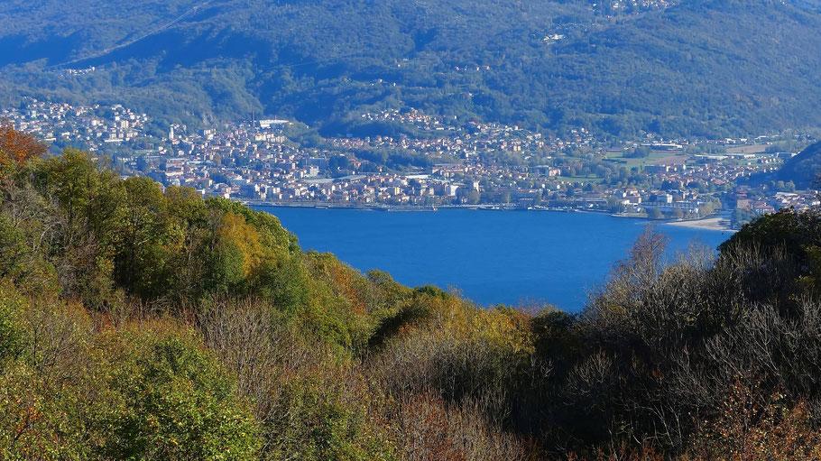 Blick von Trarego auf Luino