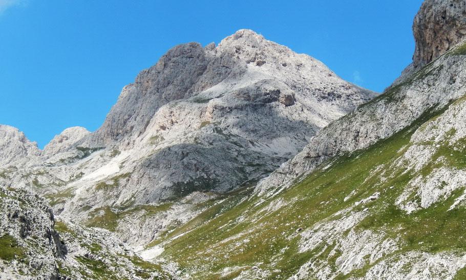 Blick von der Larsecmulde auf die Cima Scalieret, 2889 M