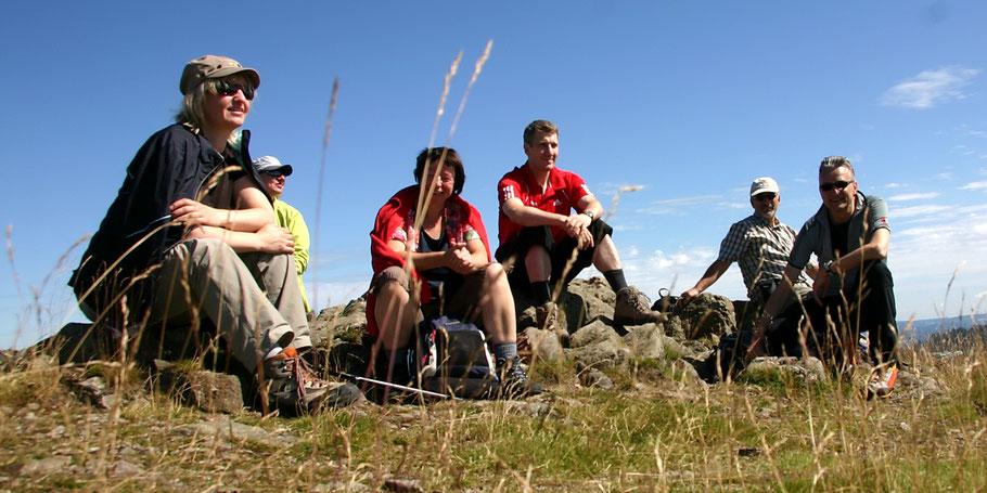 Am Gipfel des Herzogenhorn - 1415 M