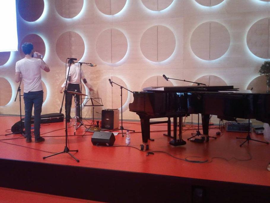 Mein erstes goldenes Overhead-Mikrofon! Vielen Dank an Raphi und Christian Below für das coole Wochenende!!!