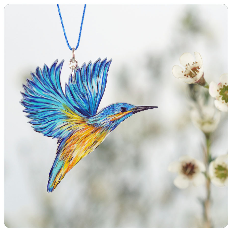 fliegender Eisvogel Unikat No. 27 || kingfisher in flight No. 27