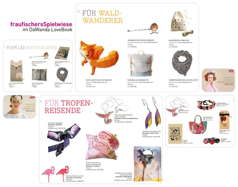 fraufischersSpielwiese im LoveBook Winter 2014/2015 und Sommer 2014