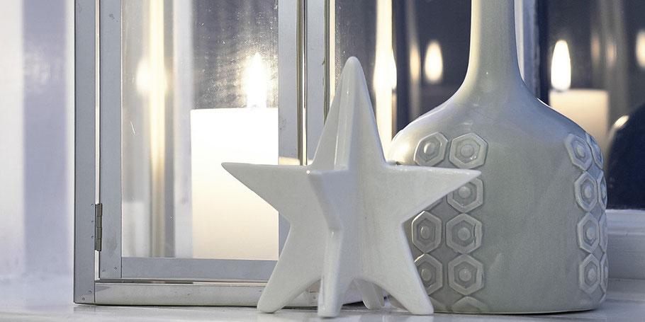 Porzellan Figur Weißer Stern Online Shop