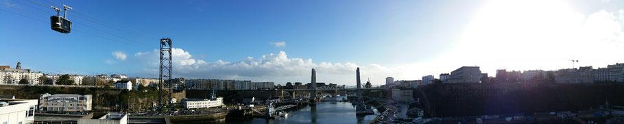 Brest : vue sur la Penfeld et le pont de Recouvrance depuis les Capucins. © Christophe Pluchon