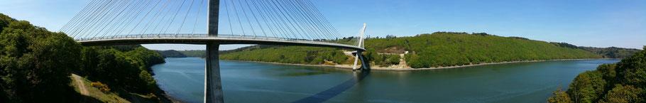 Rosnoën : le pont de Térénez sur l'Aulne (1). © Christophe Pluchon