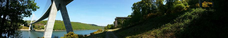 Rosnoën : le pont de Térénez sur l'Aulne (4). © Christophe Pluchon