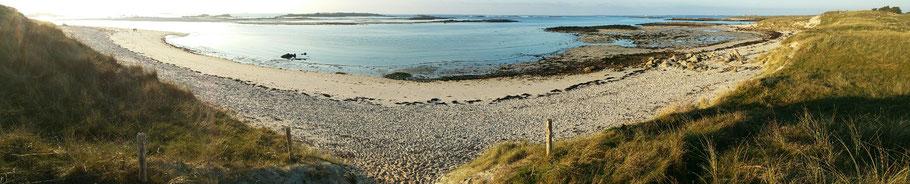 Landéda : la plage de Sainte-Marguerite. © Christophe Pluchon