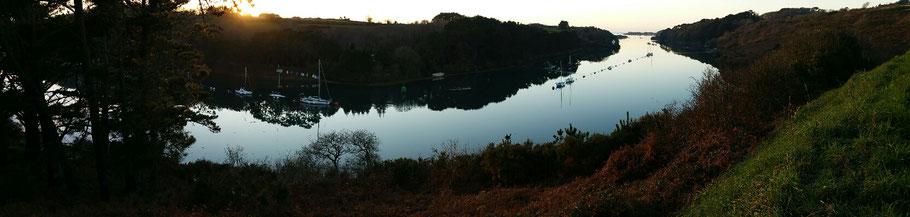 Landéda : vue sur l'Aber-Wrac'h depuis le belvédère (entre Plouguerneau et Lannilis). © Christophe Pluchon