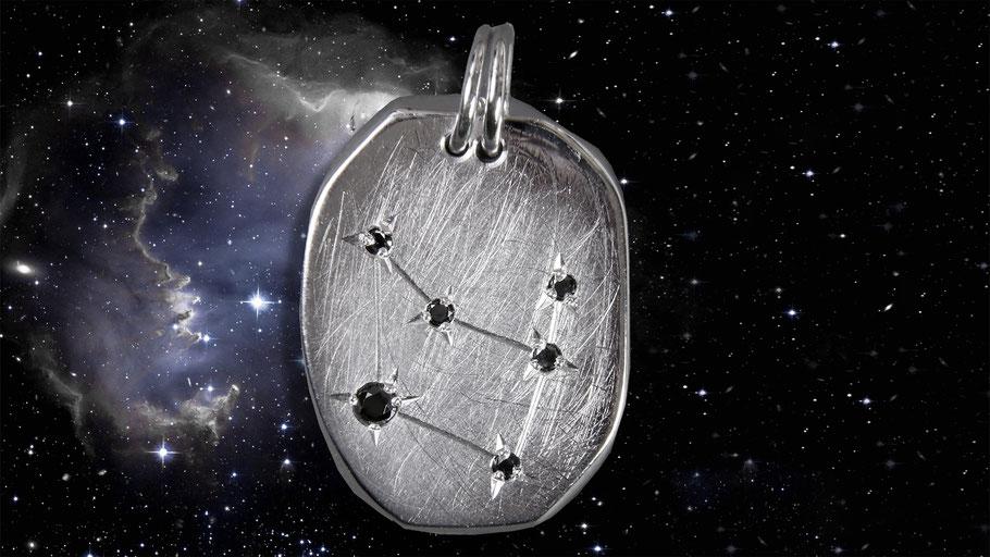 Silbersternzeichen Steinbock