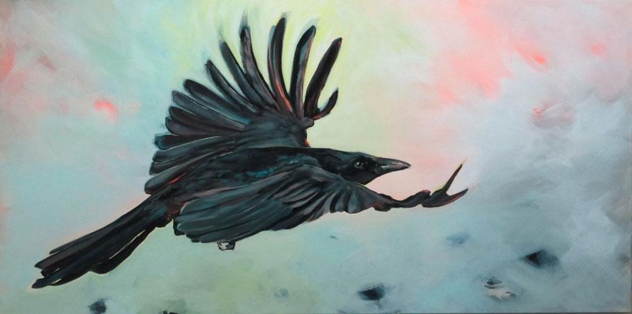 Aufbruch, 2015, 160 x 80 cm, Acryl auf LW, Privatbesitz
