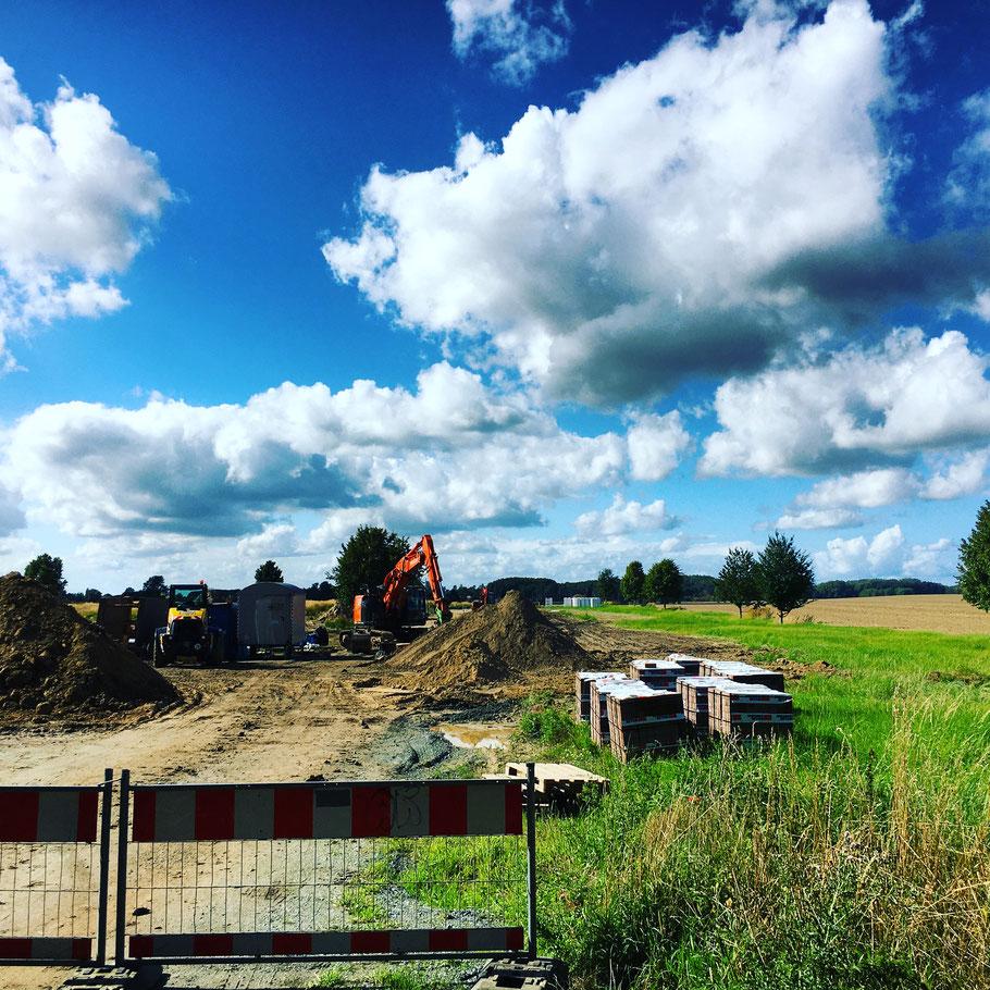 Baugebietserschließung