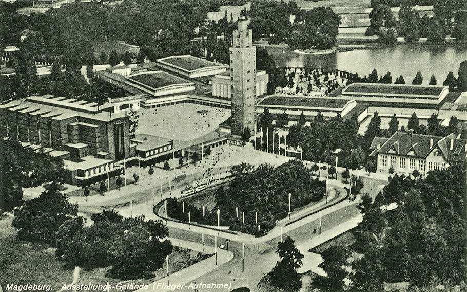 Gelände der Theaterausstellung vom Flieger aus gesehen