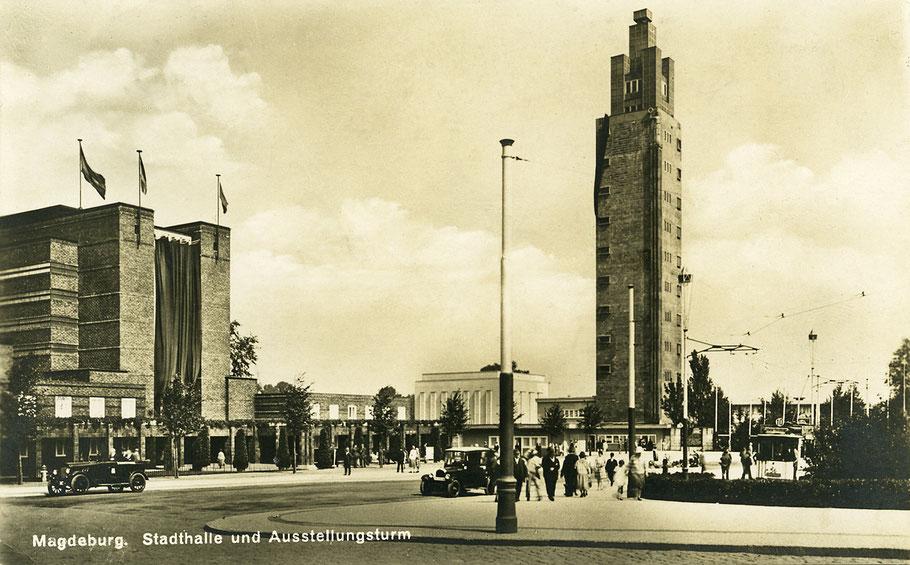Stadthalle und Aussichtsturm