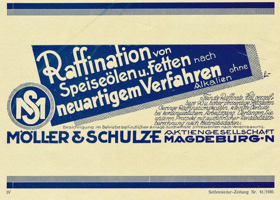 Werbung für Apparate zur Raffination um 1930