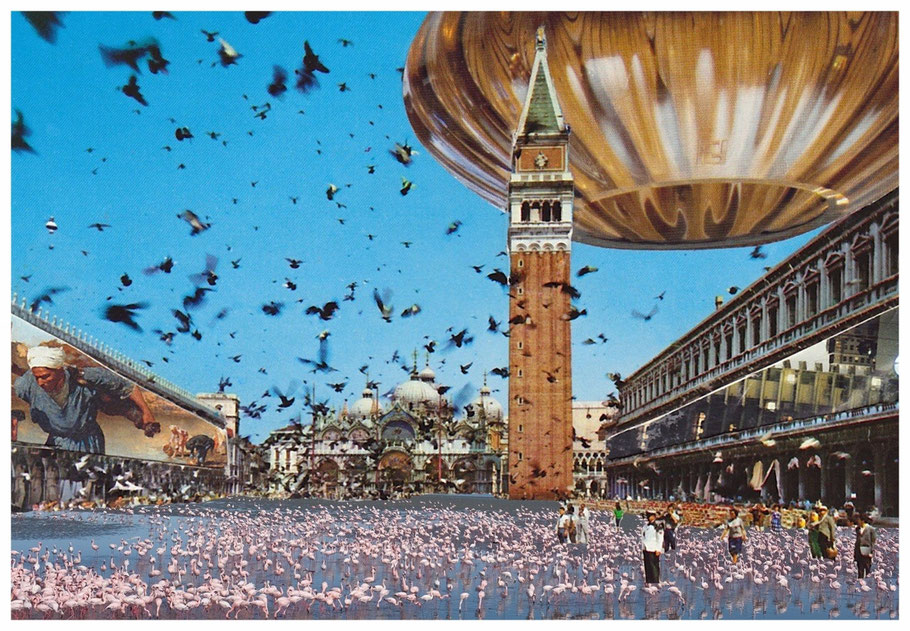 Piazza San Marco Collage, Postkarte