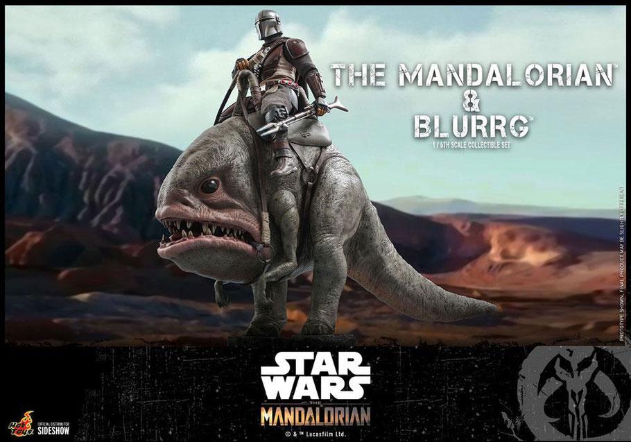 The Mandalorian & Blurrg 1/6 Star Wars The Mandalorian Actionfiguren Doppelpack 37cm Hot Toys