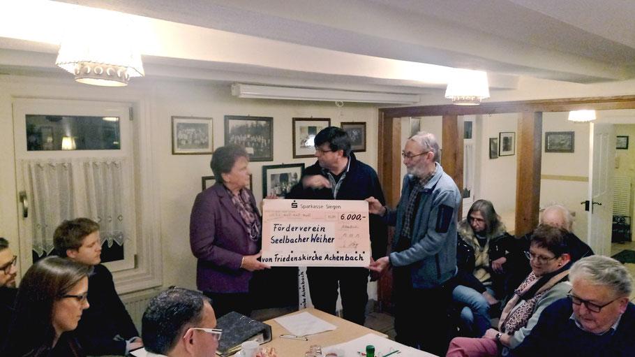 Frau Reinhilde Katz (CDU)li Günther Langer (UWG) mi und Joachim Boller (Bündnis90/Die Grünen Siegen) re