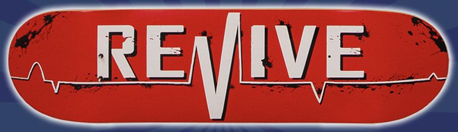 Revive Skateboards Red Lifeline Deck - VMS Distribution Revive Skateboards Germany Europe Distribution
