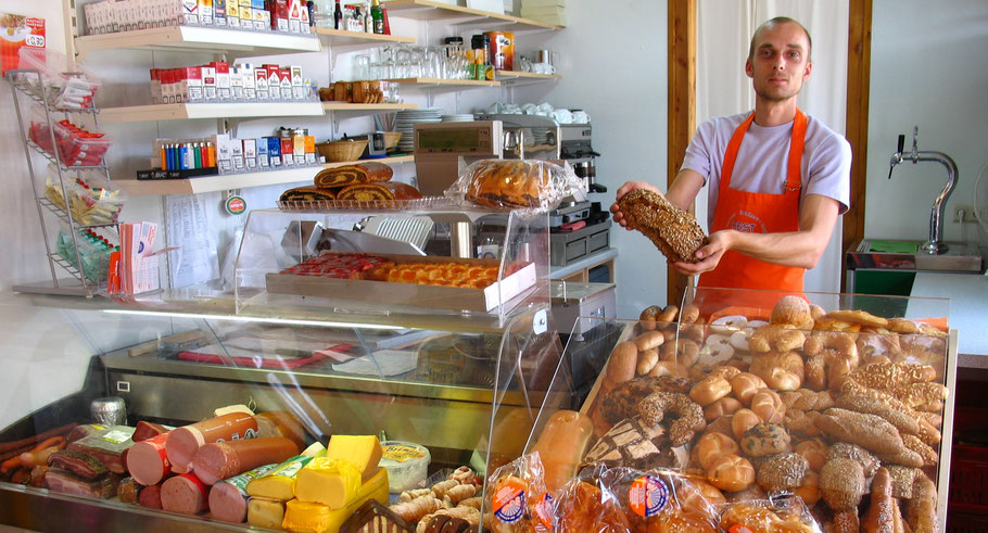 Bäckerei Rest mit Kiosk als Nahversorger im Strombad Kritzendorf