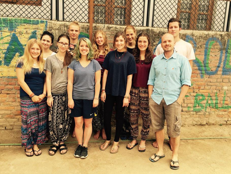 Praktikantengruppe, Stand 17.04.2016: Anka, Nessi, Kim, Konni, Bekka, Nina, Mali, Renée, Pia, Ben, Lenny