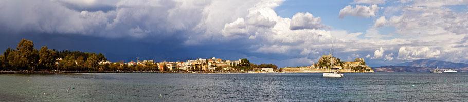 Unwetter über Korfu