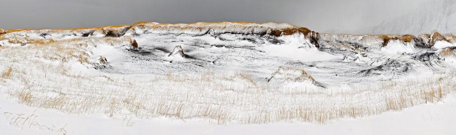 Dünen im Schneesturm
