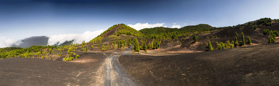 Weg durchs Lava Feld