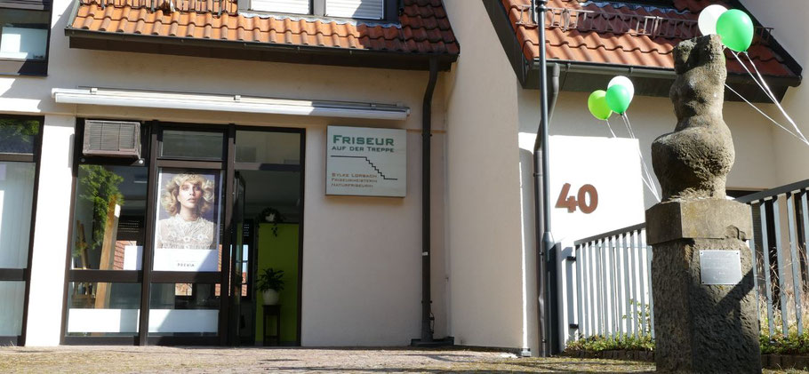 Filderstadt Friseur auf der Treppe Sylke Lorbach Naturfriseurin Anfahrt
