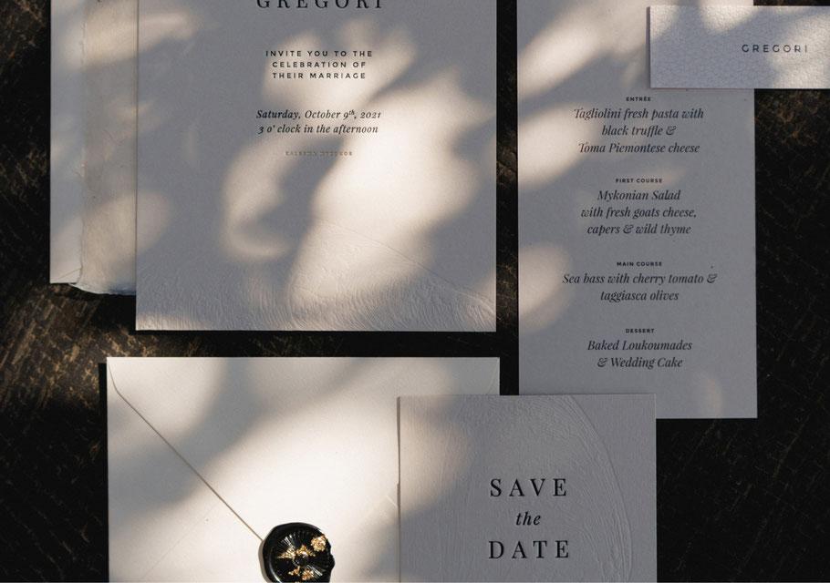 Hochzeitspapeterie und Einladungskarten von studio vanhart – Kollektion Sienna – www.studiovanhart.de