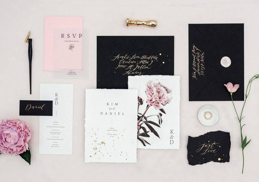 """Hochzeitspapeterie von studio vanhart – Kollektion """"Sienna"""" – www.studiovanhart.de"""