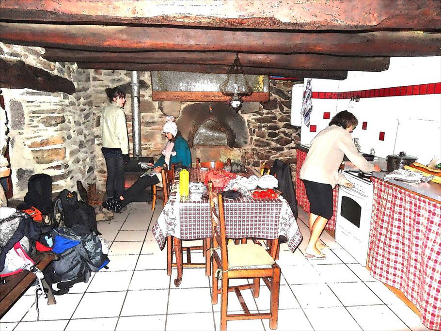 Cuisine, salle commune