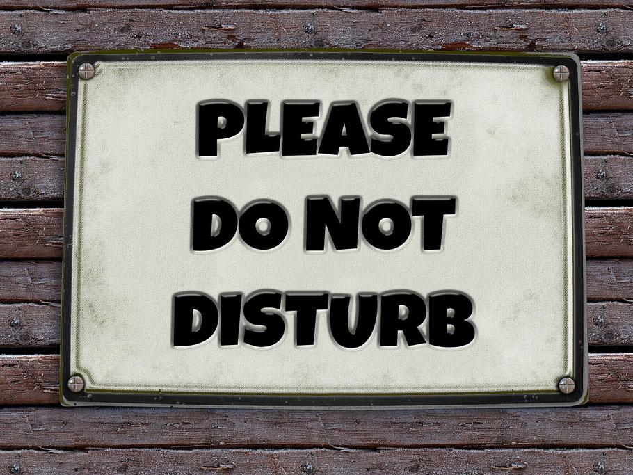 """Schild """"Bitte nicht stören"""""""