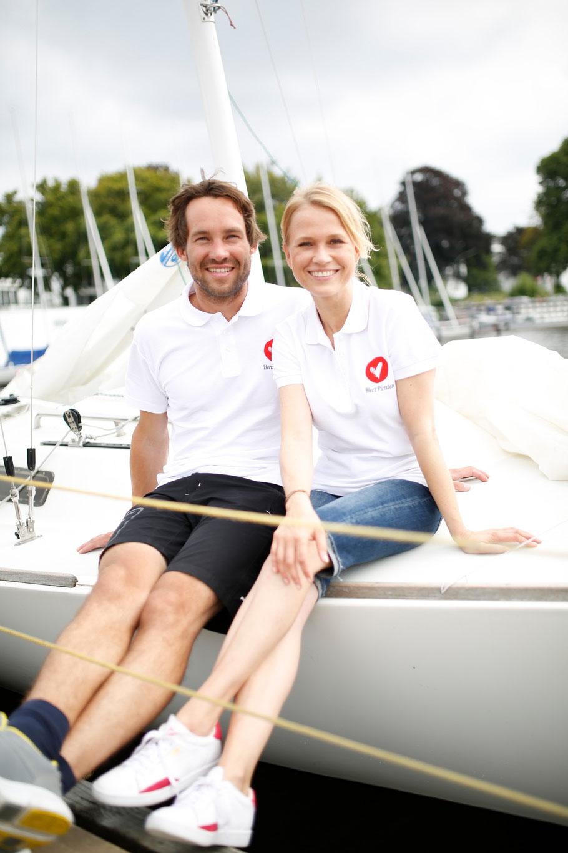 Die HerzPiraten Initiatoren Malte Kamrath und Nova Meierhenrich