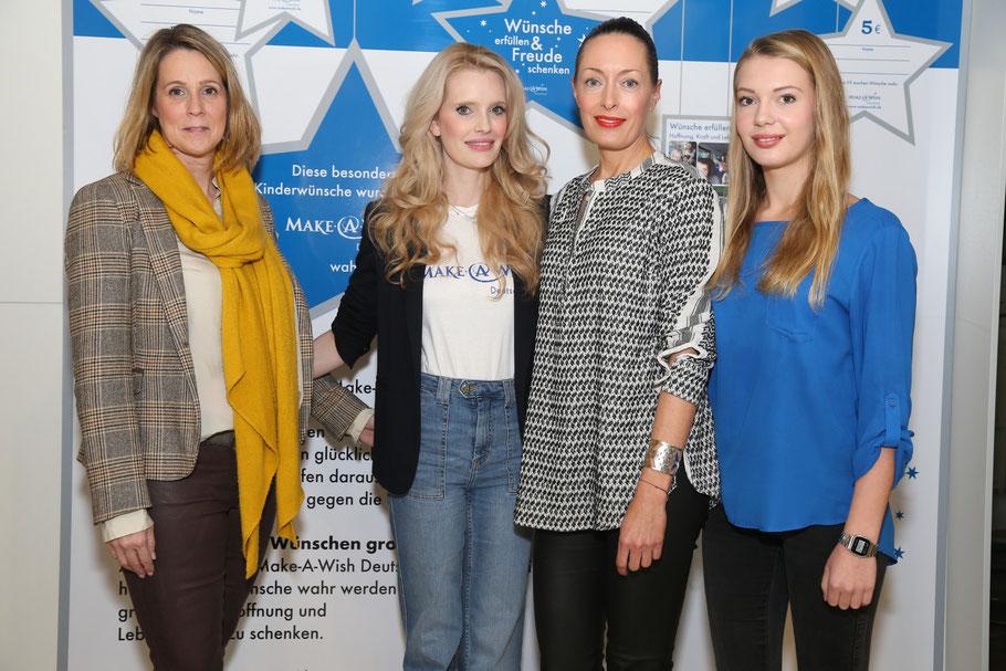 Tolle Frauen, die sich für eine tolle Aktion einsetzen: Frauke Thielvoldt, Mirja du Mont, Pernille Behnke und ihre Tochter Smilla (v.l.n.r.)
