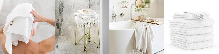 Witte handdoeken en badtextiel van Walra