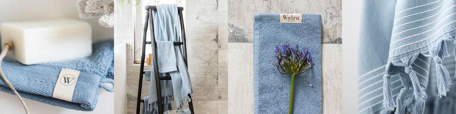 Blauwe handdoeken van Walra