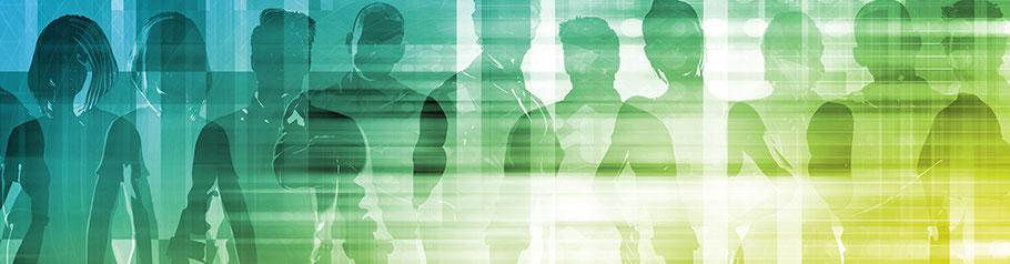 Mehrere stark wirkende Menschen. Fachkräfte und High Potentials mit EAP für's Unternehmen gewinnen.